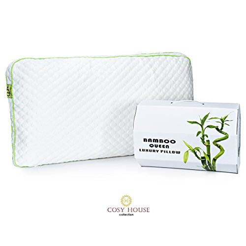Premium Shredded Memory Foam Bamboo Bed Pillow - Made in the