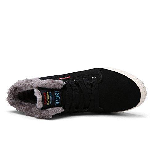 Boots de en Chaussures Schwarz Doublure avec Casual Neige Shoes Cuir Hiver Bottes Bottes 8806 Homme une xqAg1YwY