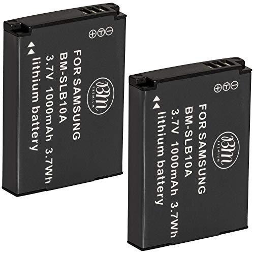 Big Mikes SLB-10A Batteries for Select Samsung Digital Cameras, Pack of 2