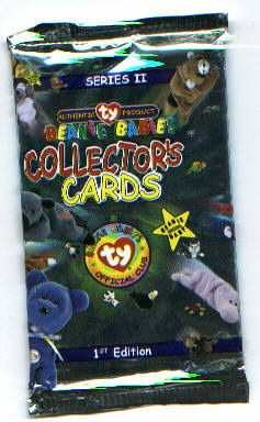TY Beanie Babies Collectors Cards  - Series 2 - 5 Packs Lot