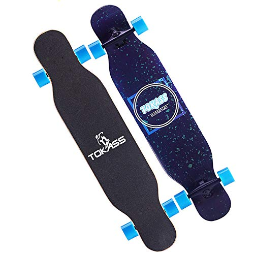 - SYCHONG 46 Inch Maple Skateboard -Suitable for A Variety of Skill Performance,Camber Concave,Send Backpacks and T-Tools Etc,Suitable for Teenagers and Adults,F