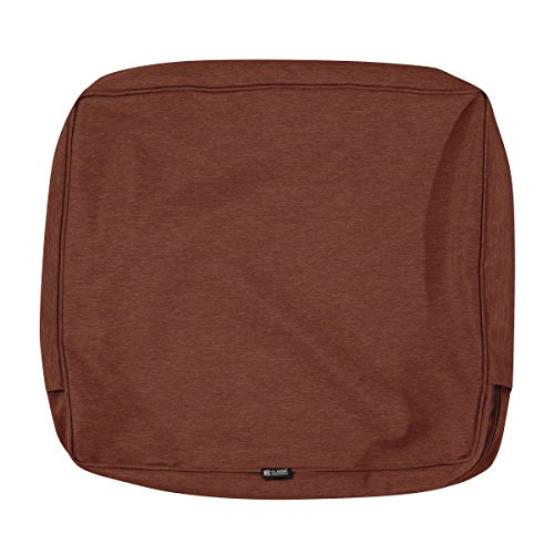 Classic Accessories Montlake Patio FadeSafe Back Cushion Slip Cover, Henna 21″Wx22″Hx4″T