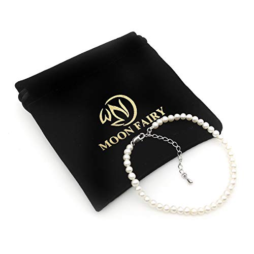 MOON FAIRY Pearl Bracelets - 3mm Chinese Freshwater Cultured White Pearl Bracelet : Fairy's Tears