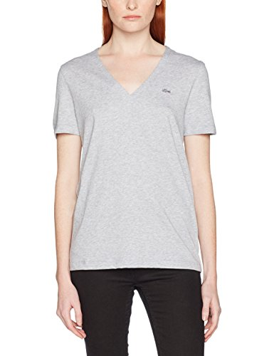 Lacoste, Camiseta para Mujer Gris (Argent Chiné)