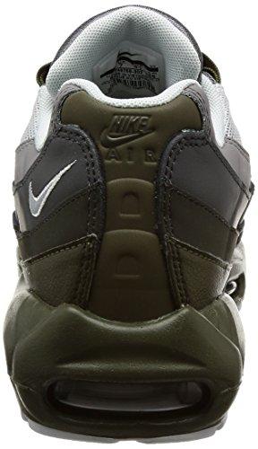 Nike Mens Air Max 95 Scarpe Da Corsa Essenziali Cargo Color Kaki / Platino Puro