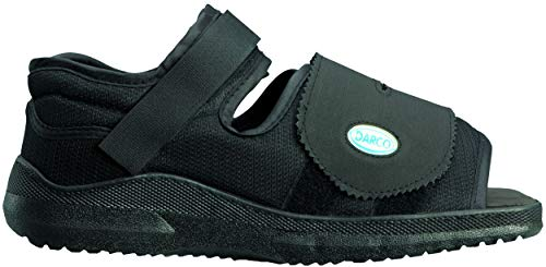 Complete Medical Darco Med-Surg Shoe Black Square-Toe Men's, Large, 0.75 Pound ()