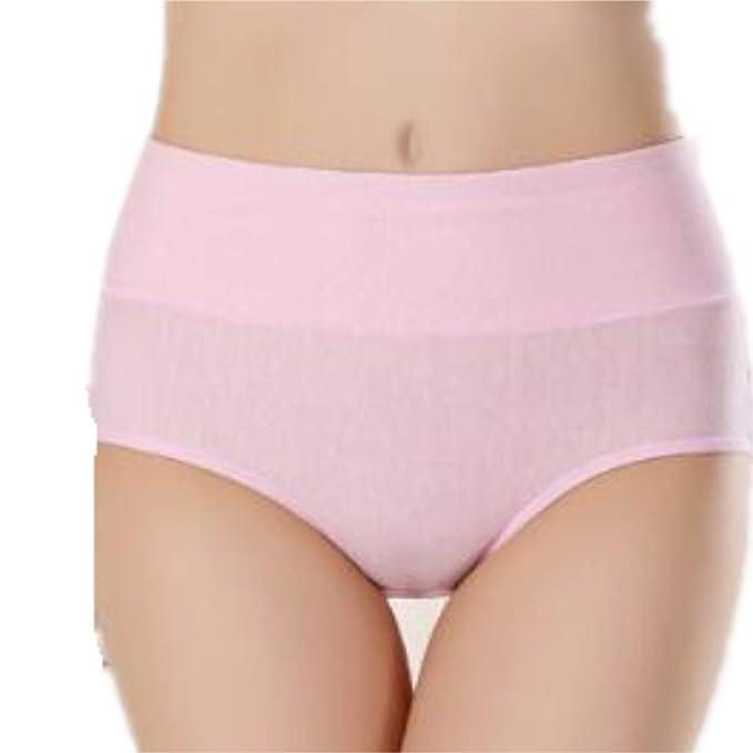 Huyizhi Calzoncillos de Mujer Pink Physiological Menstrual Prevención de Fugas Comfort Triangle Briefs Cintura Media Ropa Interior sin Costuras Sexy Ropa ...