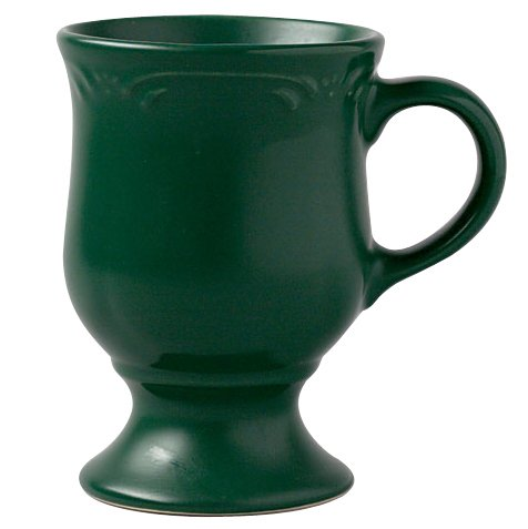 Pfaltzgraff Winterberry Emerald 10-Ounce Pedestal Mugs, Set of