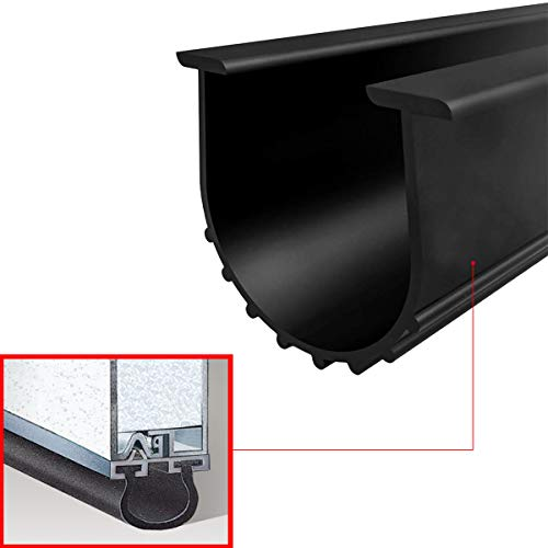 Garage Door Bottom Seal Strip Universal Rubber Weather Stripping Replacement (20 Ft Bottom ()