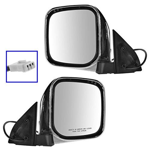 Mirrors Side Power Chrome Left & Right Pair Set for Mitsubishi Montero Sport