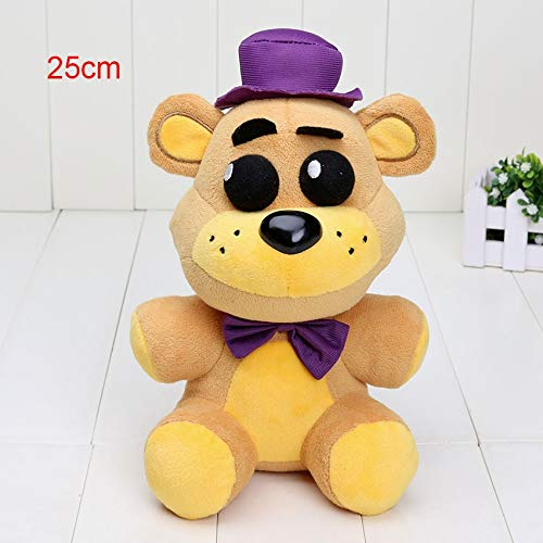 PampasSK Movies & TV - 25cm / 14cm FNAF Plush Toys Five Nights at Freddy's Pendant Golden Freddy Nightmare Fredbear Shadow Freddy Mangle Keychain Toys 1 PCs ()