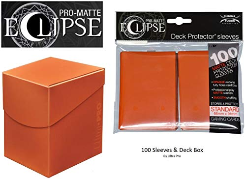 - Pumpkin Orange Deck Protector & Deck Box Combo (100 Count) for MTG Pro-Matte Eclipse by Ultra Pro