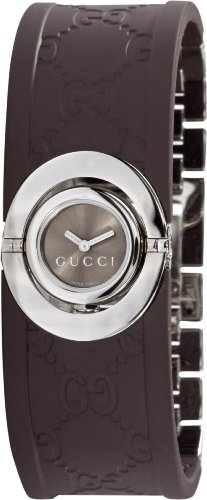 GUCCI Women's YA112519 112 Twirl Rubber Watch