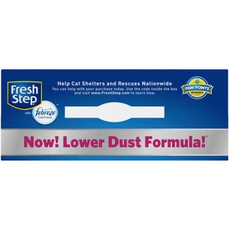 Fresh Step Multi-Cat with Febreze Freshness, Clumping Cat Litter, Scented, 14 Pounds (Clumping Cat Litter Low Track)
