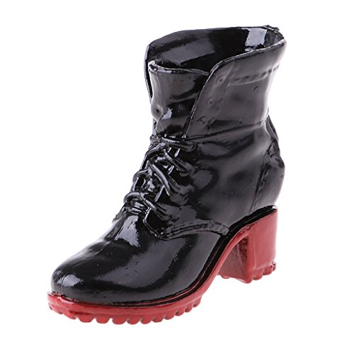 MagiDeal 1/6 Scale Boots Shoes for Female 12'' Action Figure Dragon Sideshow CY Girls Black - 12' Figure Dragon