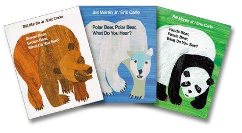 Panda Carle Bear Eric (Bill Martin Jr. & Eric Carle Three-Bear Set (Brown Bear, Polar Bear, Panda Bear))