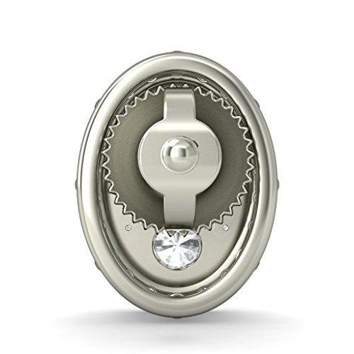 Or blanc 14K 0.892CT TW Round-cut-diamond (IJ   SI) Boucles d'oreille à tige