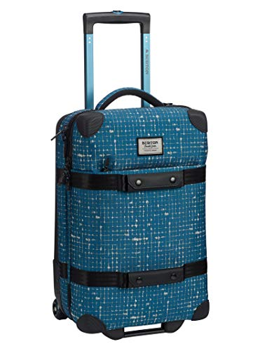 - Burton Wheelie Flight Deck 40L Travel Bag, Blue Sapphire Ripstop Texture Print