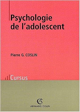 Psychologie De L Adolescent Amazon Fr Coslin Pierre G Livres