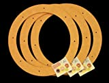3 Pack, 12'' Biodegradable Floral Craft Ring, Ez Glueable Wreath Form, for Photo Frame, Candle Ring, Etc