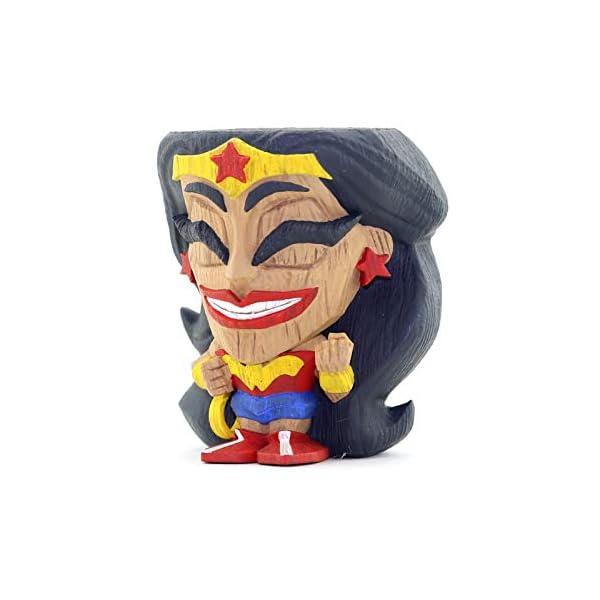 41RW8cWjFiL Cryptozoic Entertainment Wonder Woman Teekeez Figure - 2.62-Inch Stackable Vinyl Tiki Figure - Wood-Carved Aesthetic
