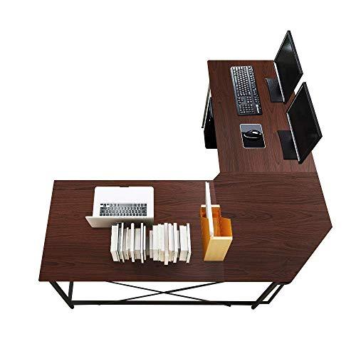 DlandHome L-Shaped Computer Desk 59