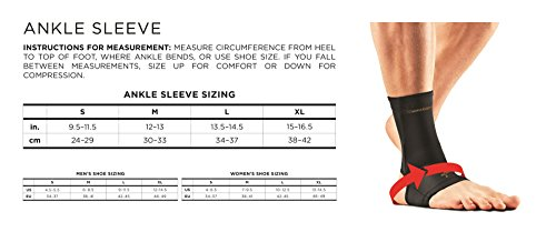 Tommie Copper Men's Performance Ankle Sleeves 2.0, Medium, Black by Tommie Copper (Image #2)