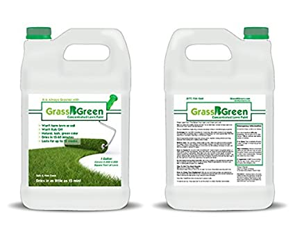 GrassBGreen Whole Lotta Lawn Paint 1 Gallon Lawn Paint Concentrate Mixes To  10 Gallon To Cover
