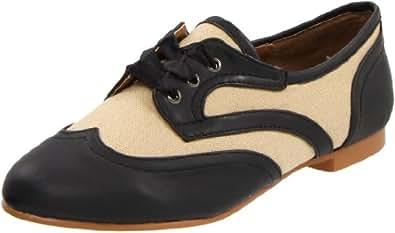 Wanted Shoes Women's Jigsaw Flat,Black,11 M US