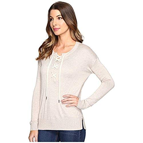 (Splendid Women's Lakewood Henley Pullover Heather Wheat Shirt)
