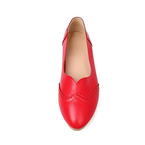7cf52a5ced91 MayMeenth Women s No-Heel Soft Materials Solid Pull On Round Closed Toe  Flats-Shoes