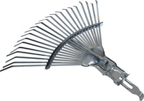Scopa Rastrello Senza manico Registrabile Papillon Scopa per Giardinaggio in Acciaio Zincato 38x40 cm