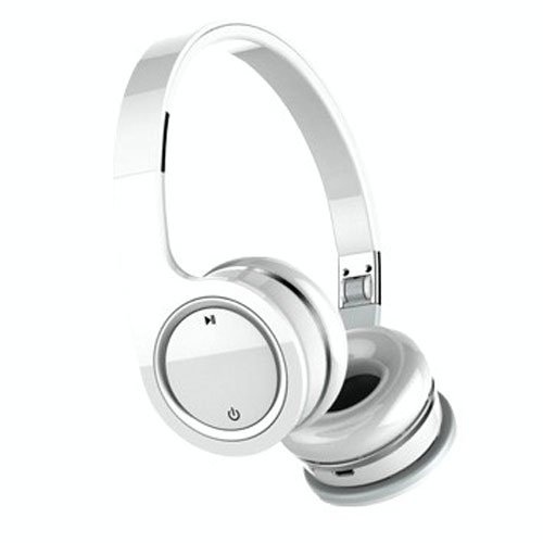 Nakamichi BTHP03 Series Bluetooth On-The Ear Headphones - Retail Packaging - White