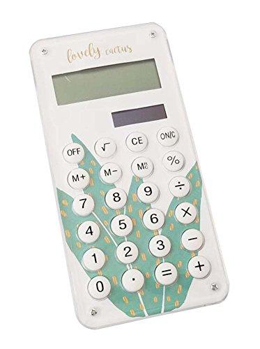Fashionable Solar Calculator Cute Portable Calculator, Aloe Vera by DRAGON SONIC