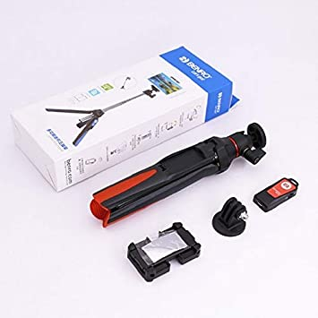 Size : Orange Jusun 3-in-1 Bluetooth Selfie Stick Tripod Monopod Outdoor Photo Stand
