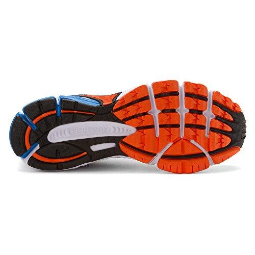 Saucony Mens Rutnät Tändning 4 Vit / Blå / Orange Gymnastiksko 12 D (m)