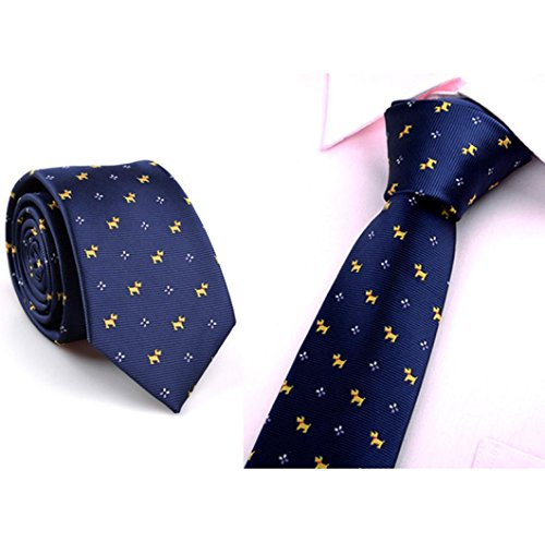 Anshinto Casual Mens Skinny Neck Party Wedding Tie Necktie for Business Man