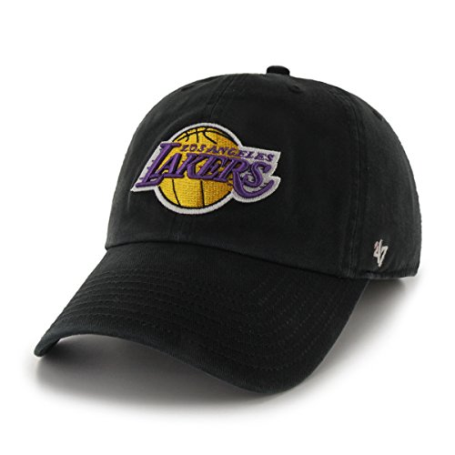 NBA Los Angeles Lakers '47 Clean Up Adjustable Hat, Black, One Size ()