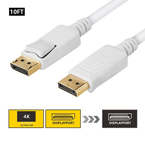 DisplayPort Cable 10ft, SZCTKlink Display Port to Display Port Cable Gold Plated 1.2 Version 4K Resolution C1005-02