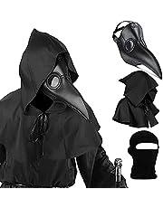 Plague Doctor Mask Set, Bird Masker Pest Doctor Costume 3 in 1 Enge Masker, Cosplay-rekwisieten, PU Lederen Materiaal, Verstelbare Hoofdband
