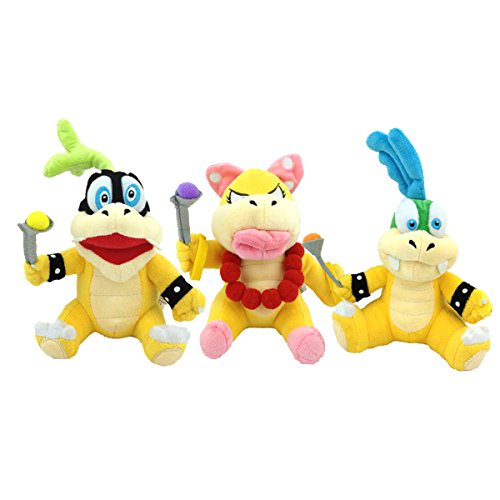 Super Mario Bros Koopalings Larry Iggy Wendy Soft Plush Toy Stuffed Animal 7.5