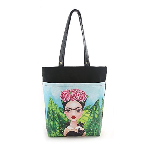 ashley-m-frida-with-black-cats-tote-bag-in-canvas-material