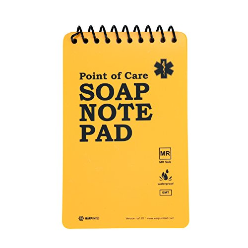 "5-Pack Full Waterproof EMT Point of Care SOAP Note Notepad 6"" x 3-3/4"" MRI Safe Disinfectable Version na1.02"