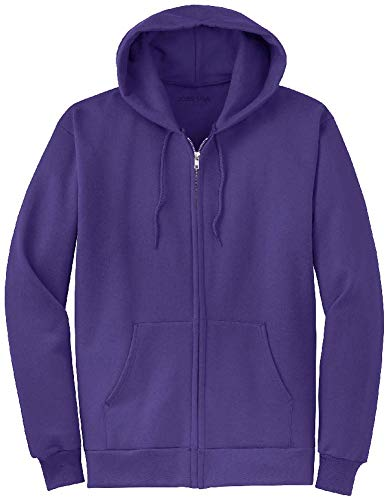 Joe's USA Full Zipper Hoodies - Hooded Sweatshirts Size L, Purple