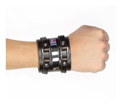 [Strap Leather Wristband Costume Accessory (Brown)] (Luke Skywalker Costume Return Of The Jedi)