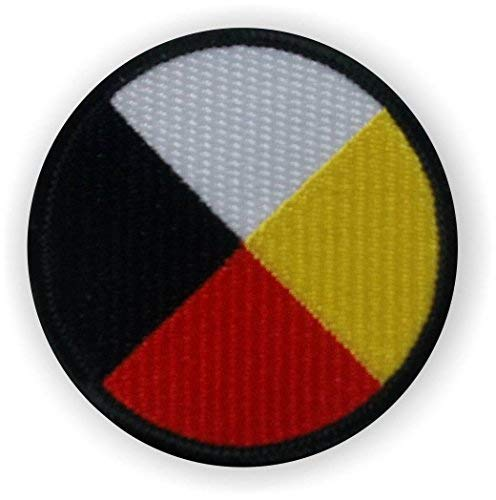 Medicine Wheel Embroidered Patch-Four Directions