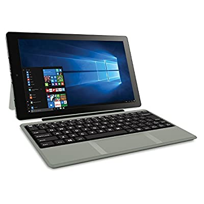 "RCA Cambio 10.1"" 2 in 1 32GB Tablet with Windows 10, Intel Atom Z8350 2GB RAM, Includes Keyboard 1280 X 800 IPS Display"