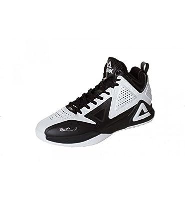 6e0dcca90a82 Peak Sport Europe Unisex Adults Basketballshoe TP1 Tony Parker White-Black  Basketball Shoes White Size