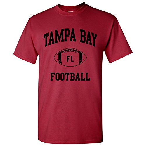 (Tampa Bay Classic Football Arch Basic Cotton T-Shirt - X-Large - Cardinal)