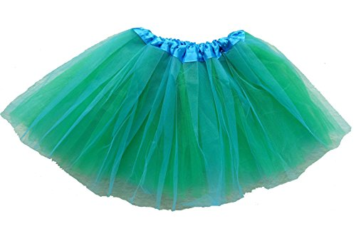 belababy Girl Skirts 3 Layers Organza Baby Tutu, Blue-Green -